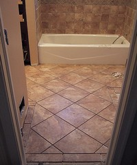 Porcelain tiles for bathroom floors